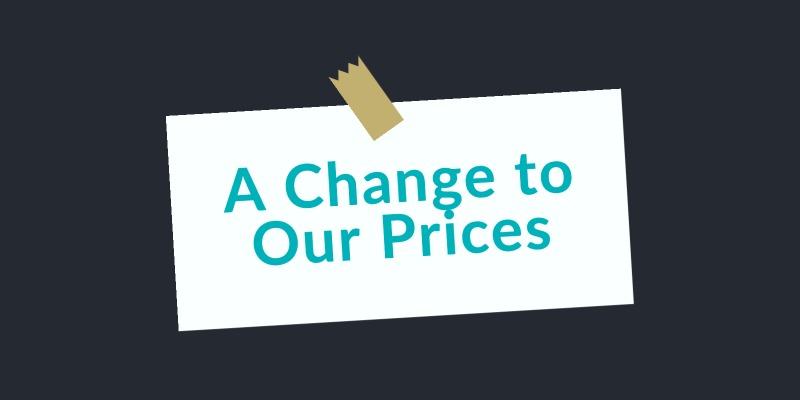 price change blog
