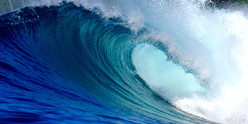A perfect ocean wave