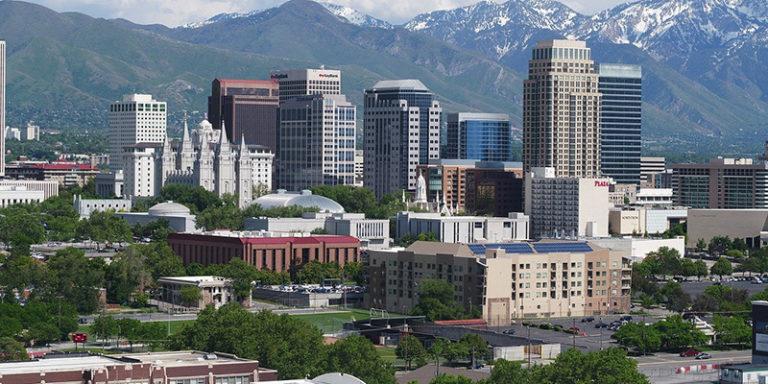 A Utah city skyline